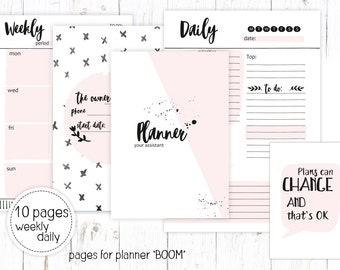 Planner printable, pages for organaizer