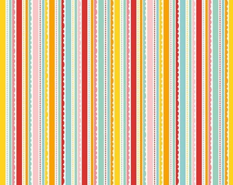 Riley Blake, Happy Day, C5915 Multi, Happy Stripes Multi, by Lori Whitlock, fabric by the yard