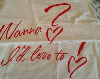 Loving Hallmark Message Pillow Cases made in the U.S.A.