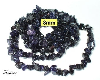 1 chain 90 cm Blue Goldstone 8 mm (789.5)