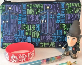 Dr Who Tardis Pen Pouch... Make Up Bag... Toiletry Bag