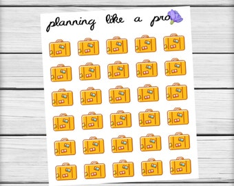 Luggage Suitcase Briefcase // Travel Vacation Planner Stickers