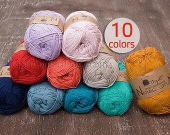 Pure cotton yarn Eco cotton yarn Soft cotton yarn Hypoallergenic yarn Quality yarn Crochet cotton yarn Knit yarn Baby clothes 100g ball