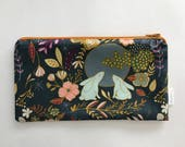 Moon Bunny Zipper Pouch, Pencil Pouch, Make-up Bag, Cosmetics Case, Clutch, Zipper Bag for an Organized Purse, Diaper Bag, Back Pack, Woman