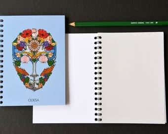 Notebook. Journal. Sketch book with blank pages. Marine. Odesa
