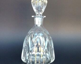 Cut glass liquor decanter, bar decor, vintage glass decanter, vintage liquor server, barware