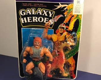 1980 GALAXY HEROES DEMON 888 vintage action figure complete original package moc sealed he man warlord type dragon Japan toys cojigo ce