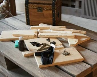 Wood treasure chest | Etsy