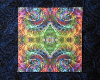"""Blotter Art """"Fractalization"""" Perforated Print Paper Psychedelic Collection Acid Art"""