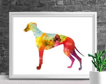 Greyhound Watercolor Art Print - Giclee Wall Decor Home Decor Housewarming Gift Birthday Gift Pet Lover's Gift