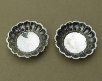 Trinket/Pin Dishes - Silver Plated - Vintage/Antique - Martin, Hall & Co - Vintage Silverplate
