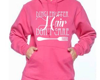 Unisex Disney Hoodie Dinglehopper Hair Don't Care Ariel Shirt Hoodie Disneyland Hoodie Disney World Sweatshirt Magic Kingdom Hoodie