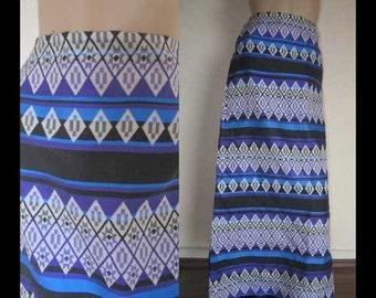 Vintage 70s op art Maxi skirt skirt S
