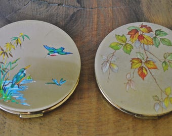 Vintage Compacts, Stratton Gold-Tone Compacts
