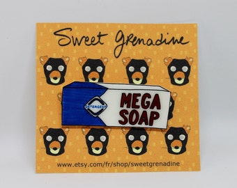 "Fantastic Mr. Fox ""MEGA SOAP"" Shrink Plastic Brooch"