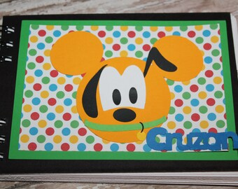 Personalized Disney Autograph Book inspired by Pluto