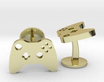 Xbox Controller Cufflinks | X-Box Cuff Links | Wedding Grooms Gaming Cuff Links | Video Game Cufflinks | Gold | Rose Gold | Silver | Bronze