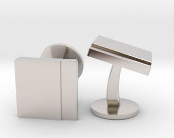 Silver Square Cufflinks | Wedding Geek & Gaming Cuff links | Available as Sets