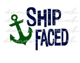 Ship Faced Cruise SVG/PNG/Silhouette Studio File
