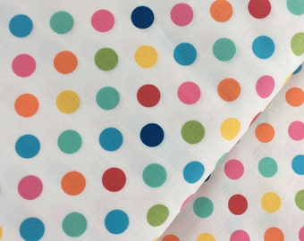 Multicolor Polka Dot Cotton Fabric from the Basic Brights Collection by Windham Fabrics