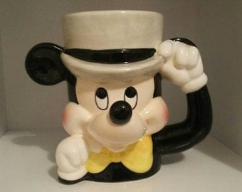 Mickey Mouse Vintage Made in Japan Cup Mug 1960s