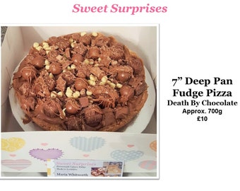 "7"" Deep Pan Fudge Pizza- Death By Chocolate!"