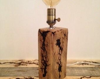 Fractal / Wood Base Accent Lamp