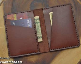 Minimalist men's wallet, Slim leather wallet, personalized slim wallet, monogram slim wallet, custom wallet, men's leather wallet