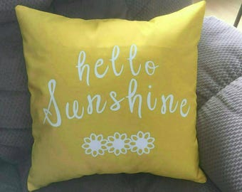 Hello Sunshine Pillow Cover