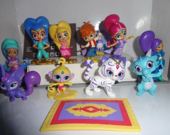 Mister A Gift Nickelodeon Shimmer and Shine set of 12 plastic Cake Toppers