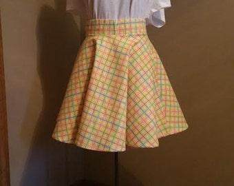 Flannel Fun Plaid Circle Skirt