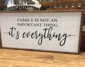 "Family is Everything Large Wood sign 18"" x 36"""
