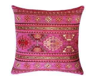 kilim pillow cover turkish pillow tribal pillow aztec pillow ethnic pillow
