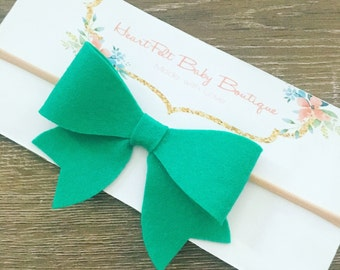 Summer Large Bow Teal