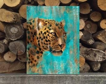 Leopard Print, Printable Art, digital art,  Modern Wall Art, Wall Decor, Digital Download, animal print, oil painting imitation, Leopard