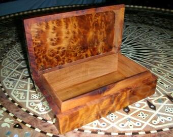 Wooden Thuya Box Hand-made in Morocco thuja