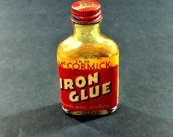 Vintage Advertising McCormick Iron Glue