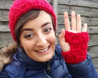 Chunky fingerless gloves pattern.