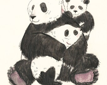 Original illustration - Pandas