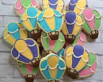 Hot air balloon cookies - 1 dozen