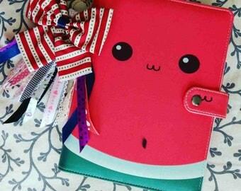 A5 planner binder, planner A5, planner organizer, watermelon  planner, binder