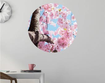 Cherry Blossoms Wall Decal Dot - Cherry Blossom Tree Decals - Cherry Blossom Wall Decal - Nursery Tree Decal - Tree Wall Decal