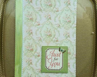 Birthday card in lime green and pastel.