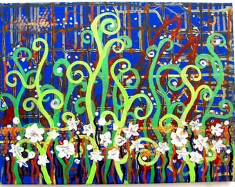 Acrylic painting Original acrylic painting Acrylic abstract texture painting Abstract 3D painting Abstract painting flowers Texture painting