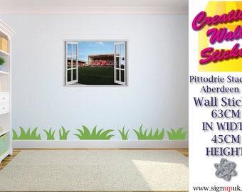 Kids Bedroom Pittodrie Stadium Aberdeen FC 3d effect window wall sticker