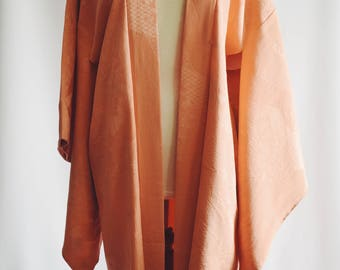 Vintage Japanese Salmon color kimono.