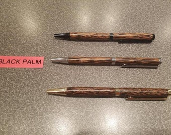 Black Palm Exotic Wood Refillable Pen