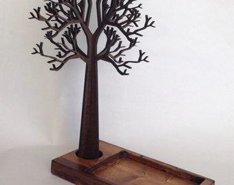 Jewelry Tree Organizer - Jewelry Rack and Tray