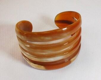 Horn bracelet cuff - horn bracelets vietnam jewelry - KAI-3728