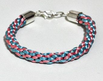 Silk thread woven bracelet